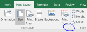 excel page layout